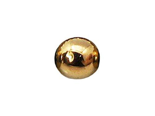 10x Perle Hämatit 10mm–Gold