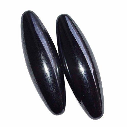 1 Paar Magnete in Oliven Form aus magnetisiertem Hämatit (Blutstein) auch singende Steine genannt Größe M: ca. 40 mm (4535)