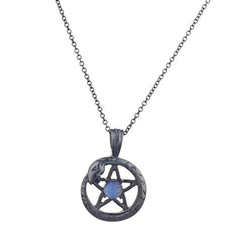 LUX Zubehör Hämatit Pentagramm Schlange Wrap Blau Opal Charme Anhänger Halskette
